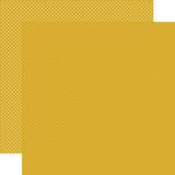 Carta Bella Dots & Stripes: Mustard Dots 12x12 Patterned Paper