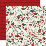 Christmas Market: Holiday Floral 12x12 Patterned Paper