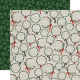 Christmas Market: Wreaths 12x12 Patterned Paper