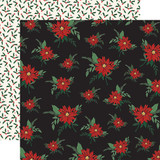 Christmas Market: Poinsettias 12x12 Patterned Paper