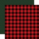 Christmas Market: Buffalo Plaid 12x12 Patterned Paper