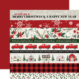 Christmas Market: Border Strips 12x12 Patterned Paper