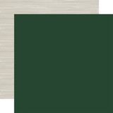 Christmas Market: Dark Green/Woodgrain 12x12 Solid Paper