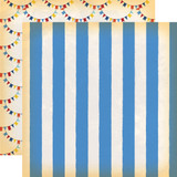 Circus: Big Top Stripe 12x12 Patterned Paper