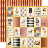Circus: Three Ring Circus 12x12 Patterned Paper