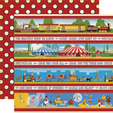 Circus: Border Strips 12x12 Patterned Paper