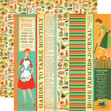 Country Kitchen: Garden to Table Strips 12x12 Patterned Paper