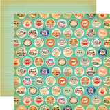 Country Kitchen: Farm Milk Caps 12x12 Patterned Paper