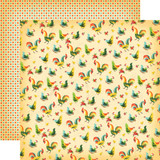 Country Kitchen: Kitchen Roosters 12x12 Patterned Paper