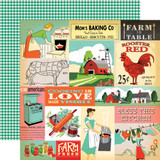 Country Kitchen: Multi Journaling Cards 12x12 Patterned Paper