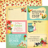 Country Kitchen: 4x6 Journaling Cards 12x12 Patterned Paper