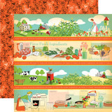 Country Kitchen: Border Strips 12x12 Patterned Paper
