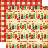 Country Kitchen: Preserve and Pickle 12x12 Patterned Paper