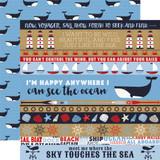 Deep Blue Sea: Border Strips 12x12 Patterned Paper