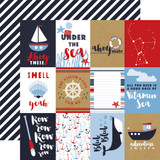 Deep Blue Sea: 3x4 Journaling Cards 12x12 Patterned Paper