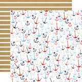 Deep Blue Sea: Anchors Aweigh 12x12 Patterned Paper