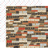 Deep Blue Sea: Ahoy Mates 12x12 Patterned Paper