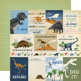Dinosaurs: 3X4 Journaling Cards 12x12 Patterned Paper