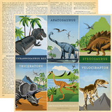 Dinosaurs: 4X6 Journaling Cards 12x12 Patterned Paper