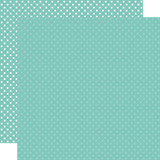 Dots & Stripes: Teal 12x12 Patterned Paper
