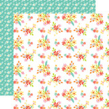 Easter Wishes: Easter Flowers 12x12 Patterned Paper
