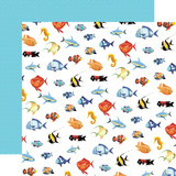 Fish Are Friends: Fish March 12x12 Patterned Paper