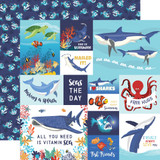 Fish Are Friends: Multi Journaling Cards 12x12 Patterned Paper
