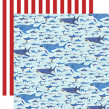 Fish Are Friends: Shark Swim 12x12 Patterned Paper
