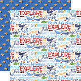 Fish Are Friends: Ocean Words 12x12 Patterned Paper