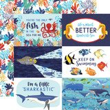 Fish Are Friends: 4X6 Journaling Cards 12x12 Patterned Paper