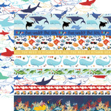 Fish Are Friends: Border Strips 12x12 Patterned Paper