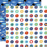 Fish Are Friends: Deep Sea Circles 12x12 Patterned Paper