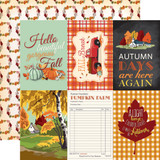 Fall Break: 4x6 Journaling Cards 12x12 Patterned Paper