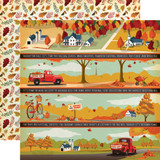 Fall Break: Border Strips 12x12 Patterned Paper