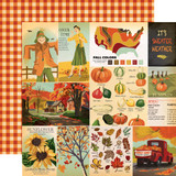 Fall Break: Journaling Cards 12x12 Patterned Paper