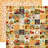 Fall Break: Fall Squares 12x12 Patterned Paper