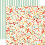 Fall Market: Fall Floral 12x12 Patterned Paper