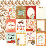 Fall Market: 3x4 Journaling Cards 12x12 Patterned Paper