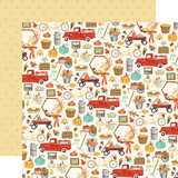 Fall Market: Happy Harvest 12x12 Patterned Paper