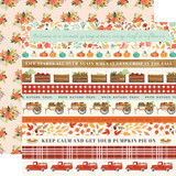 Fall Market: Border Strips 12x12 Patterned Paper