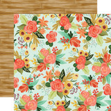 Fall Market: Autumn Floral 12x12 Patterned Paper