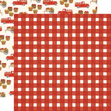 Fall Market: Red Gingham 12x12 Patterned Paper