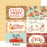 Fall Market: 4x6 Journaling Cards 12x12 Patterned Paper