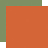 Fall Market: Orange/Green Solid 12x12 Patterned Paper