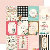 Flower Market: 3x4 Journaling Cards 12x12 Patterned Paper