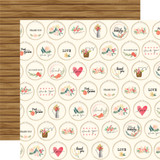 Flower Market: Embroidery Hoops 12x12 Patterned Paper