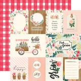 Flower Market: Multi Journaling Cards 12x12 Patterned Paper