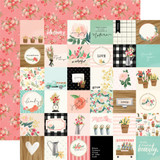 Flower Market: 2x2 Squares 12x12 Patterned Paper