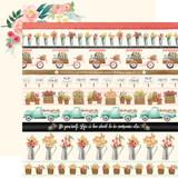 Flower Market: Border Strips 12x12 Patterned Paper