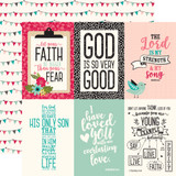Forward with Faith: 4x6 Journaling Cards 12x12 Patterned Paper